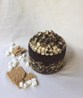 Charred Marshmellow and Salty Graham Frosting